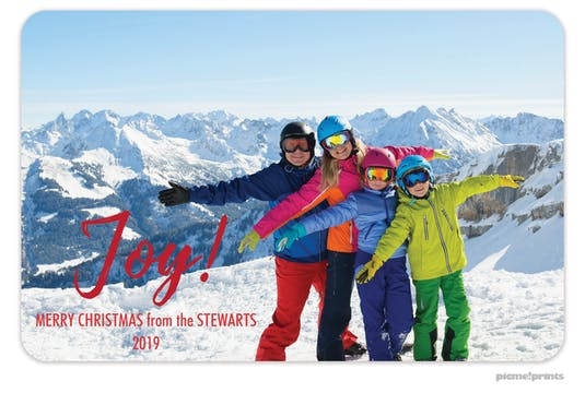 Joy! Flat Holiday Photo Card