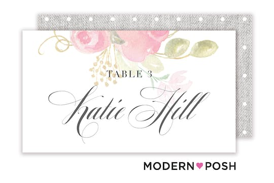 Blooming Bouquet Placecard