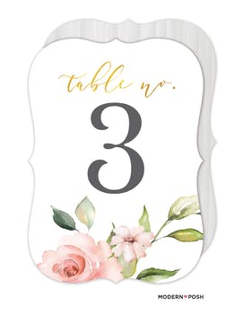 Love Blooms Table Card
