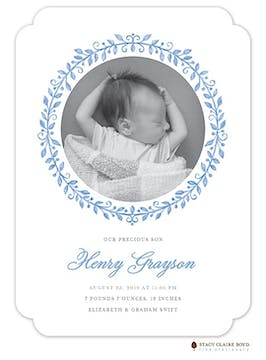 Painted Precious Photo Birth Announcement