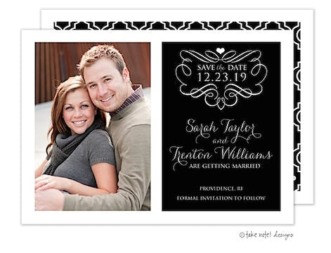 Artful Pattern Photo Save The Date