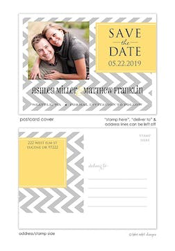 Designer Tag Save The Date Postcard