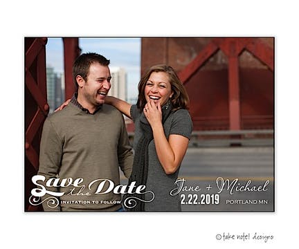 Save The Date Art Of Words Save The Date Photo Magnet