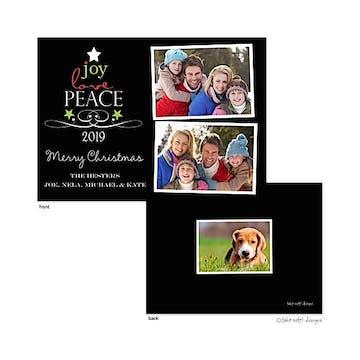 Peace, Joy and Love Tree Snapshots Flat Photo Holiday Card