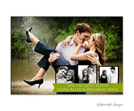 Save The Date Ribbon Wrap Save The Date Photo Magnet