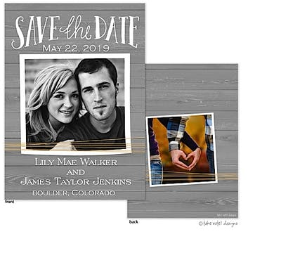 Rustic Yellow Twine Save The Date Photo Card