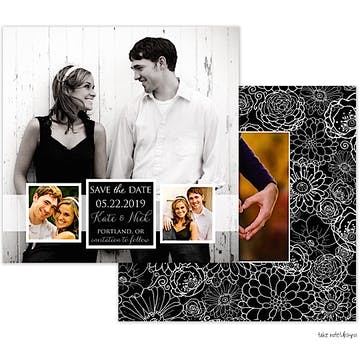 Band of Photos Save The Date Photo Card