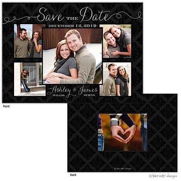 Damask Beautiful Photo Layout Save The Date Photo Card