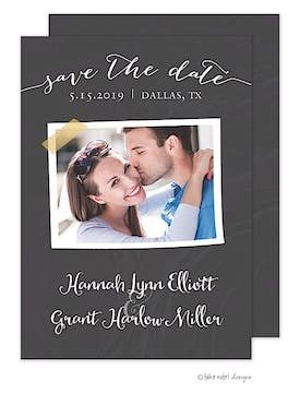 Chalkboard Tape Save The Date Save The Date Photo Card