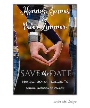 Save The Date Simple Vertical Save The Date Photo Magnet
