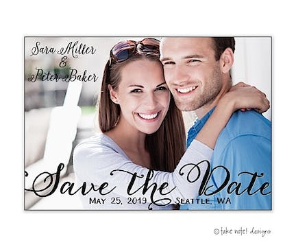 Save The Date Script Overlay Save The Date Photo Magnet