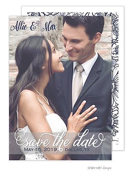 Save The Date Transparent Band Overlay Save The Date Photo Card