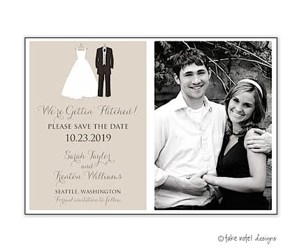 Bride And Groom To Be Photo Save The Date Photo Magnet