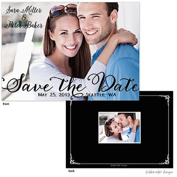 Save The Date Script Overlay Save The Date Photo Card