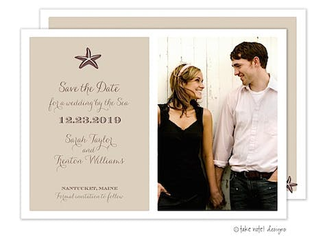 Starfish Beach Photo Save The Date