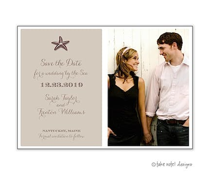 Starfish Beach Photo Save The Date Photo Magnet