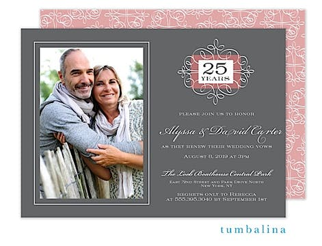 Anniversary Portrait Photo Invitation