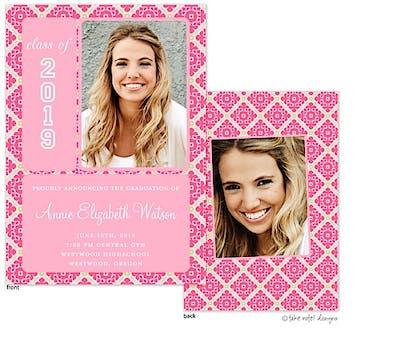 Pink Fancy Grid Photo Announcement