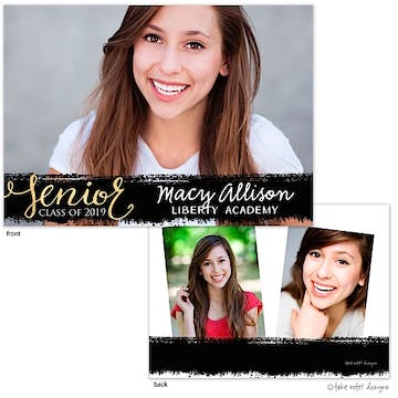 Macy Allison Painted Overlay Photo Card