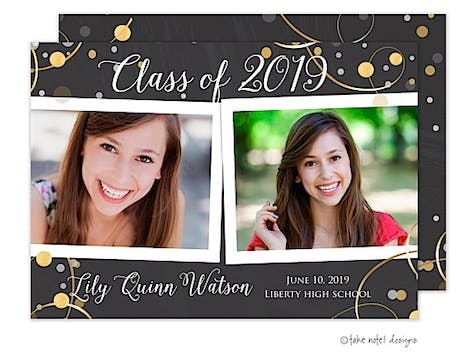 Lily Quinn Chalkboard Celebration Photo Card
