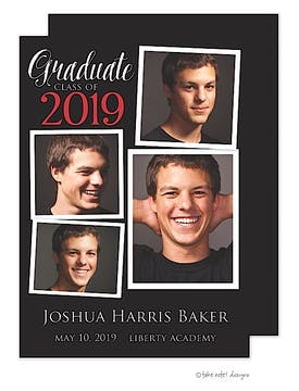 Joshua Harris Graduate Classic Red Photo Card