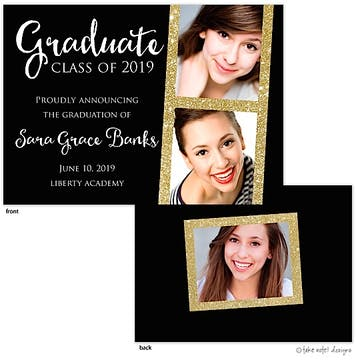 Sara Grace Glitter Gold Photo Card