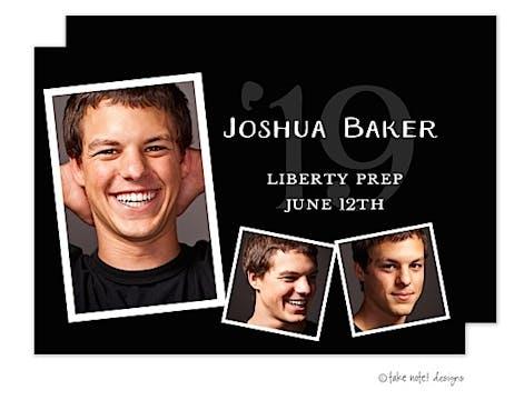 Joshua Baker Black Photo Card