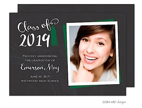 Emerson May Tassel Green Photo Card