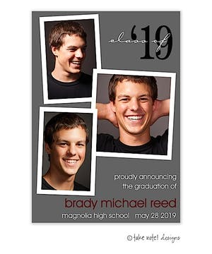 Scatter Photo Shadow Year Graduation Photo Magnet