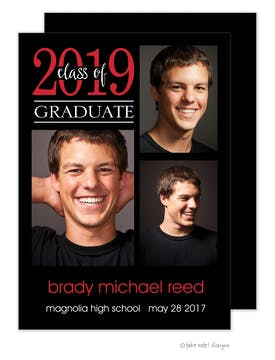 Brady Michael Simple Graduate Photo Card