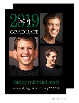 Brady Michael Simple Graduate Green Photo Card
