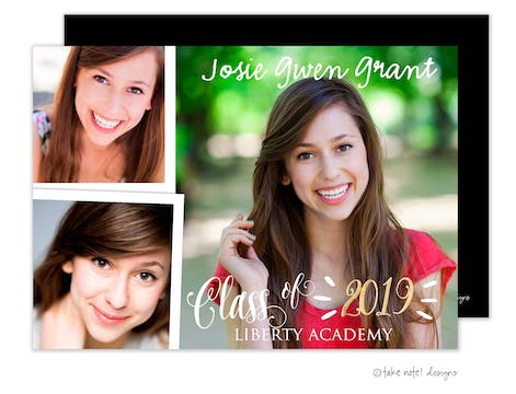 Josie Gwen Graduate Burst Photo Card