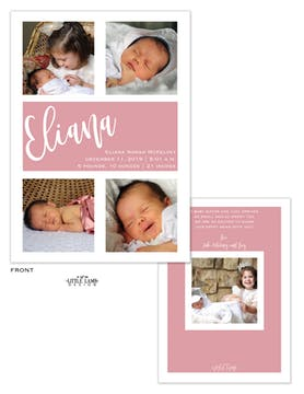 Contemporary Multi Photo Baby Announcement