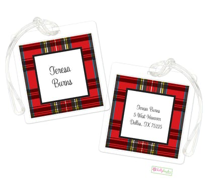 Red Plaid ID Tag