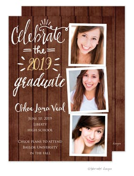 Chloe Lara Rustic Celebrate Photo Card