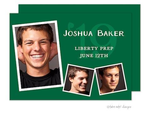 Joshua Baker Green Photo Card