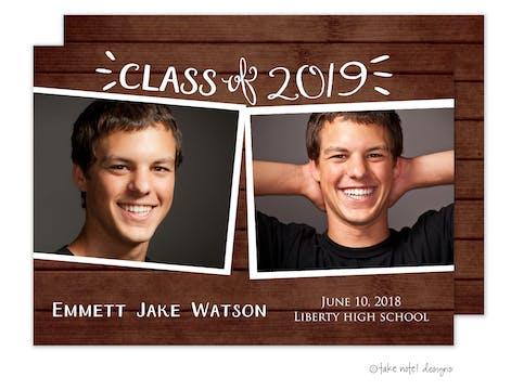 Emmett Jake Rustic Charm Photo Card