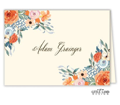 Fresh Floral Placecard