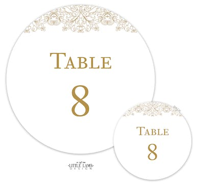 Lace Table Card-Round