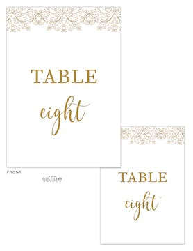Lace Table Card-Flat