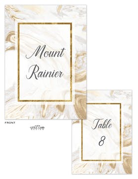 Marbled Elegance Table Card-Flat