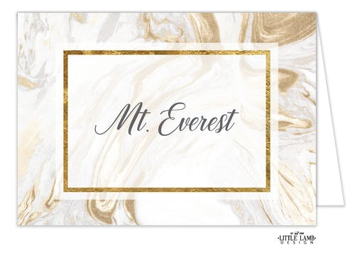 Marbled Elegance Table Card-Folded
