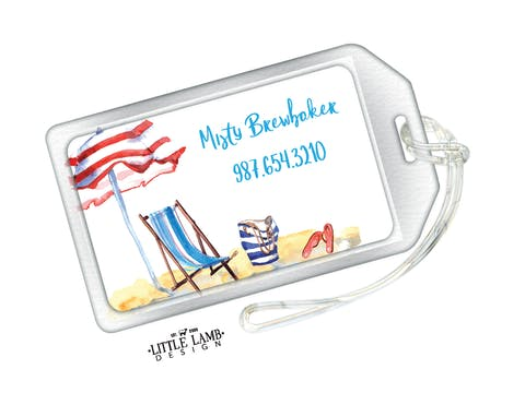 Day at the Beach Luggage Tag