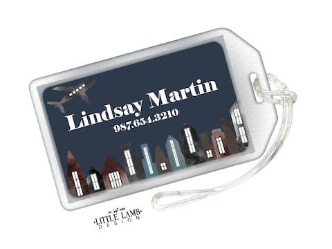 City Lights Luggage Tag
