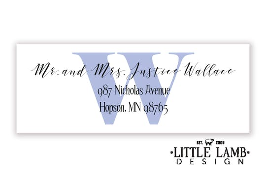 Bold Initial Return Address Label