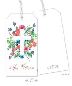 Garden Cross Hanging Gift Tag