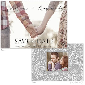 Save The Date Overlay Simple Save The Date Photo Card