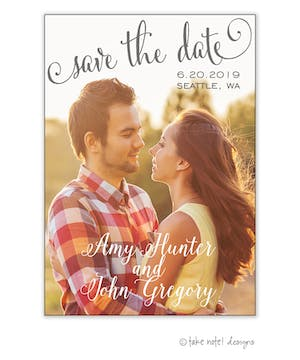 Save The Date Script Vertical Save The Date Photo Magnet
