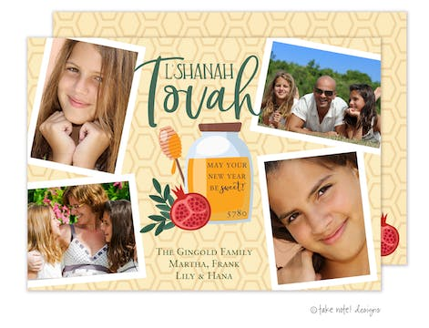 Sweet Blessing Photo Collage Holiday Photo Card