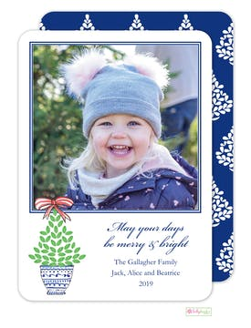 Christmas Topiary Digital Photo Card